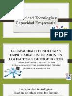 Clase 03la Capacidad Tecnologia y Empresarial Economia