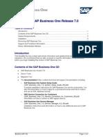 SAP Business One 7.0 ReadMe En