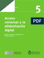 Acceso Unuversal Alfabetizacion Digital