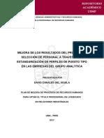 MEJORA DE LOS RESULTADOS DEL PROCESO DE SELECCIÓN DE PERSONAL A TRAVÉS DE LA ESTANDARIZACIÓN DE PERFILES DE PUESTO TIPO EN LAS EMPRESAS DEL GRUPO ANALYTICA
