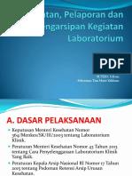 Presentasi Pencatatan Pelaporan Dan Pengarsipan Laboratorium