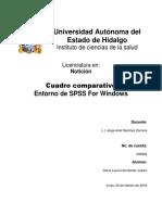 Cuadro Comparativo-Entorno de SPSS for Windows