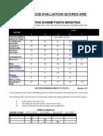 PG Job Evaluation Scoring Matrices