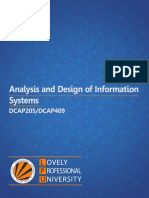 Dcap205 Dcap409 Analysis and Design of Information Systems