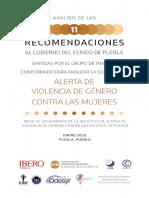 Análisis de Las Once Recomendaciones AVG
