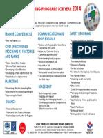 Training Programs 2014
