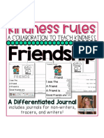 Kindness Rules Friendship Journals for Beginning Writers Special Education