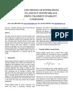 Setting of Psbosp Considering Transient Stability Dpsp 2008 Rev1