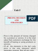 Unit 5 Pricing