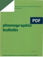 Iasa Phonographic Bulletin 1