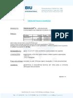 Tabela Preços - BIU 2011 - Tegovakon Consolidante Mineral