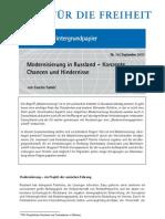 Modernisierung in Russland – Konzepte, Chancen und Hindernisse