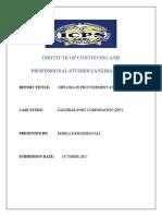 Field Report Diploma Zpc