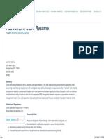 Sample Accountant Clerk Resume • Great Sample Resume
