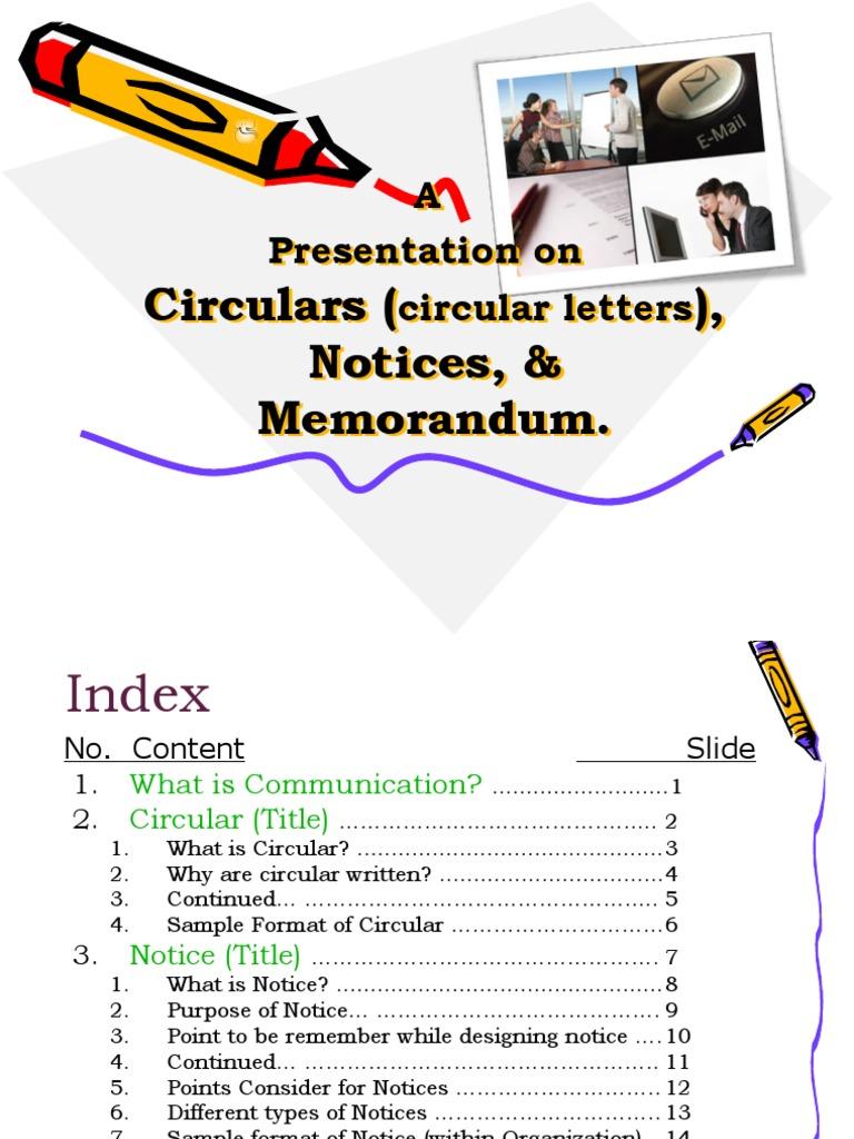 Circulars circular lettersnoticesmemo memorandum semiotics altavistaventures Images