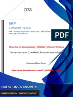 SAP HANA (Edition 2016 - SPS12) C_HANAIMP_12 Exam  Quality Preparation Material