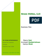 Green Chilies- Business Plan