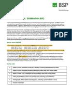 BSP - BPE Guidelines