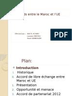 Les Accords Entre Le Maroc Et l'UE