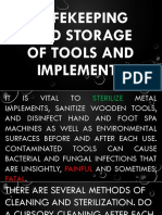 Safekeeping and Storage of Tools and Implements