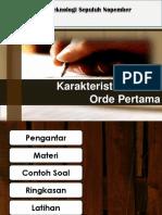 3.2 Karakteristik Sistem Orde Pertama