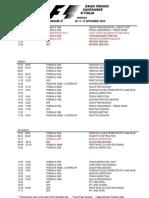 2010 Formula 1 Italian Grand Prix Timetable