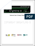 Terms of Use and Privacy Policy Brightline Legal Technologies