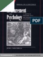 Measurement in Psychology