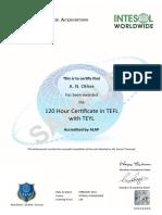 附件3-Alap 120tefl 证书样本