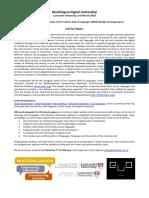 Multilingual Digital Authorship Workshop CFP