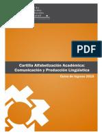 Cartilla de Alfabetizacin Acadmica 2018