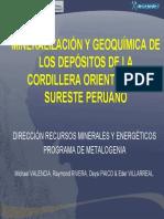 mineralizacinygeoqumicadelosdepsitosdelacordilleraorientaldelsuresteperuano-120417164717-phpapp01