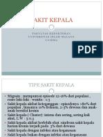 SAKIT KEPALA-medical Chief Complaint ED - Fkunisma 2015
