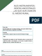 Principales Instrumentos- Herramientas Ancestrales Agricolas Que Aun Usan