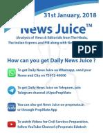 News Juice - 31st January, 2018