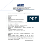 Anexo IV Contrataaao de Docente Documentos de Admissao 082013