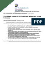 Kompetensi Lulusan Prodi Pendidikan Bahasa Dan Sastra Indonesia - 2015-04-27
