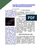Protocolo de Reprogramación Genética
