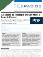 A questão da ideologia em Karl Marx e Louis Althusser