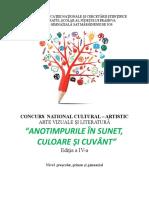 Regulament PROIECT CONCURS Anotimpurile in sunet, culoare si cuvant (1).doc