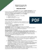 resumo  patologia ORAL - Ameloblastoma