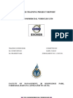 Project Report VE Commercial Vehicle Ltd Spares