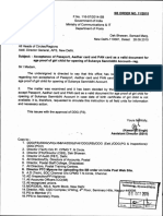 SSA Acceptance of Passport, Aadhar Card and PAN Card as a Valid Document for Age Proof - SB Order 112015[28!09!2015]