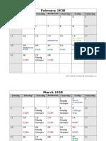 computer lab dates calendar