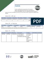 production schedule u10