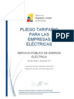 Pliego Tarifarios SPEE 2017