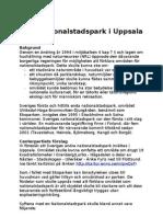 PM C-s förslag om nationalstadspark i Uppsala