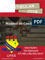 Manual Do Candidato Vestibular 2018