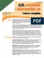 Tobacco Smuggling in UK