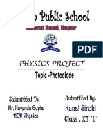 Physics Project Photo Diod